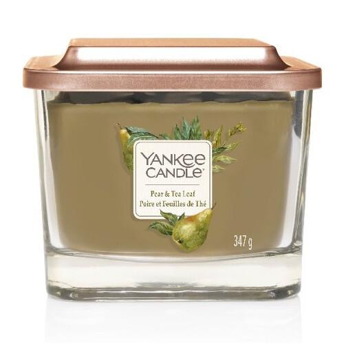 Yankee Candle Aromatická svíčka střední hranatá Pear & Tea Leaf 347 g