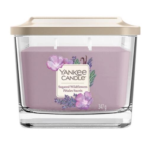 Yankee Candle Aromatická svíčka střední hranatá Sugared Wildflowers 347 g