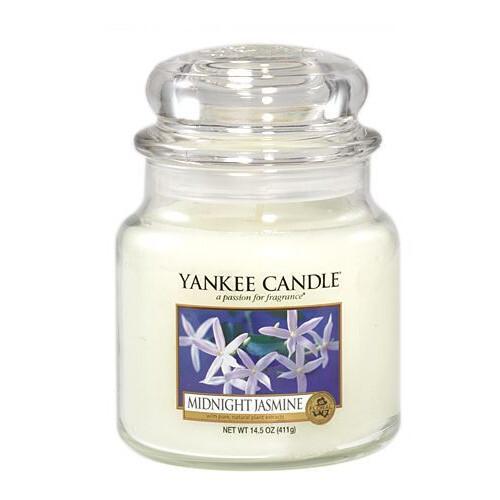 Yankee Candle Aromatická svíčka střední Midnight Jasmine 411 g