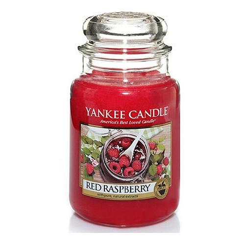 Yankee Candle Aromatická svíčka velká Červená malina (Red Raspberry) 623 g