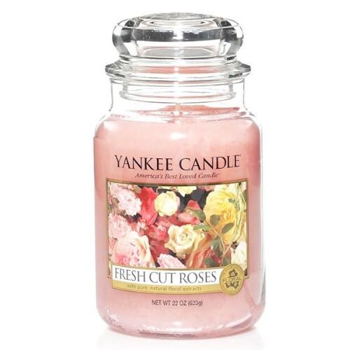 Yankee Candle Aromatická svíčka velká Fresh Cut Roses 623 g
