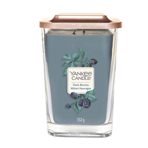 Yankee Candle Aromatická svíčka velká hranatá Dark Berries 552 g