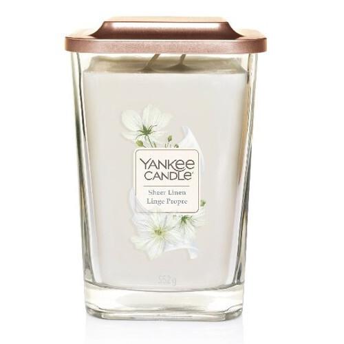 Yankee Candle Aromatická svíčka velká hranatá Sheer Linen 552 g