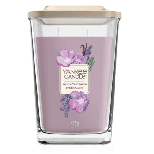 Yankee Candle Aromatická svíčka velká hranatá Sugared Wildflowers 552 g