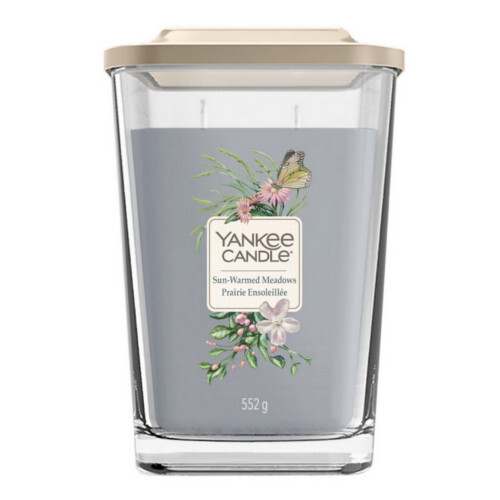 Yankee Candle Aromatická svíčka velká hranatá Sun-Warmed Meadows 552 g