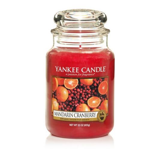Yankee Candle Aromatická svíčka velká Mandarinka a brusinka (Mandarin Cranberry) 623 g