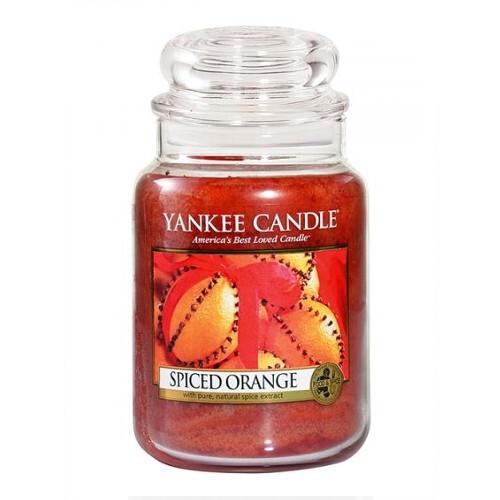 Yankee Candle Aromatická svíčka velká Pomeranč se špetkou koření (Spiced Orange) 623 g