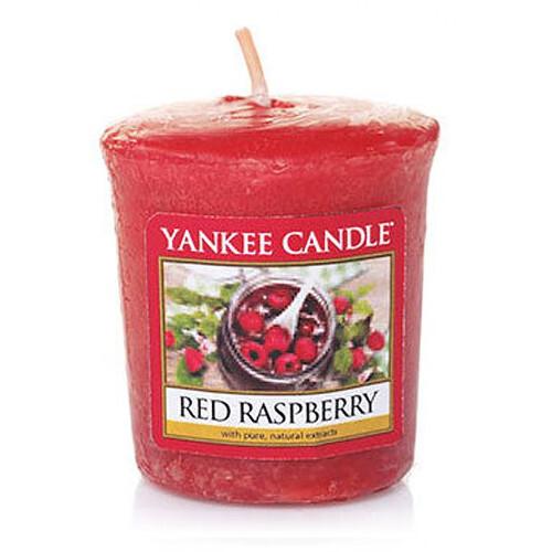 Yankee Candle Aromatická votivní svíčka Červené maliny (Red Raspberry) 49 g
