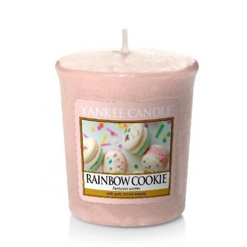 Yankee Candle Aromatická votivní svíčka Duhové makronky (Rainbow Cookie) 49 g