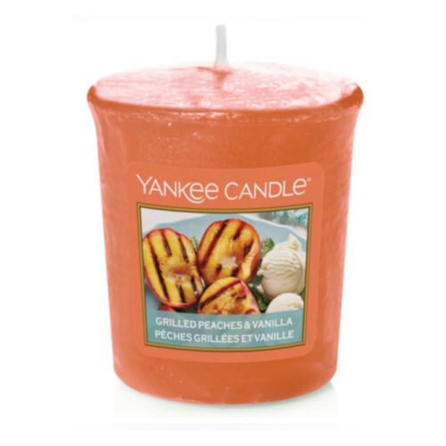 Yankee Candle Aromatická votivní svíčka Grilled Peaches & Vanilla 49 g