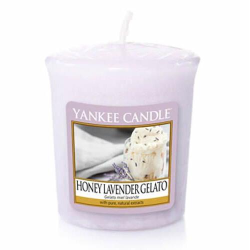 Yankee Candle Aromatická votivní svíčka Honey Lavender Gelato 49 g