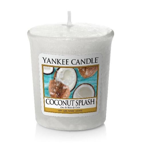 Yankee Candle Aromatická votivní svíčka Kokosové osvěžení (Coconut Splash) 49 g