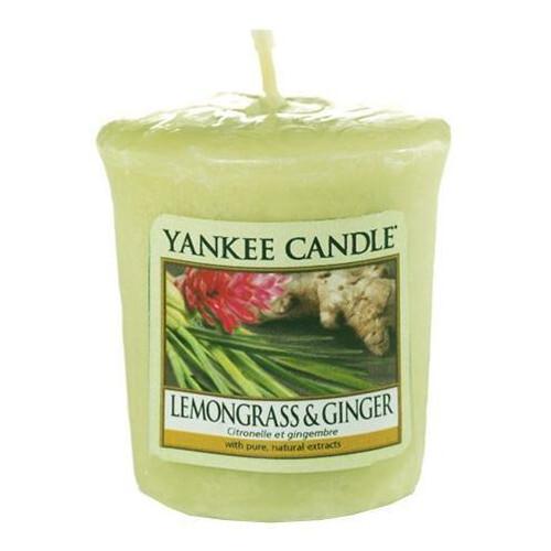 Yankee Candle Aromatická votivní svíčka Lemongrass & Ginger 49 g - SLEVA ušpiněné