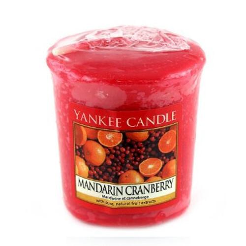 Yankee Candle Aromatická votivní svíčka Mandarinky s brusinkami (Mandarin Cranberry) 49 g