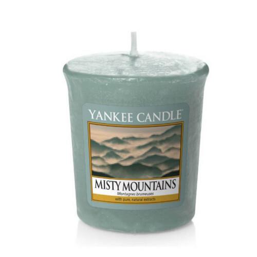 Yankee Candle Aromatická votivní svíčka Mlžné hory (Misty Mountains) 49 g