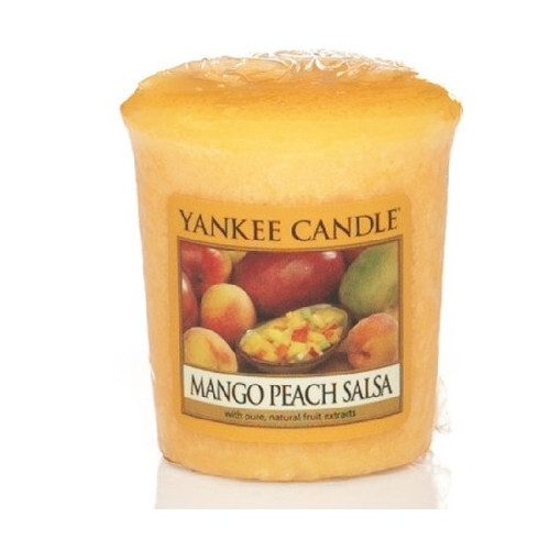 Yankee Candle Aromatická votivní svíčka Salsa z manga a broskví (Mango Peach Salsa) 49 g