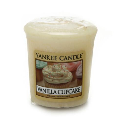 Yankee Candle Aromatická votivní svíčka Vanilkové košíčky (Vanilla Cupcake) 49 g