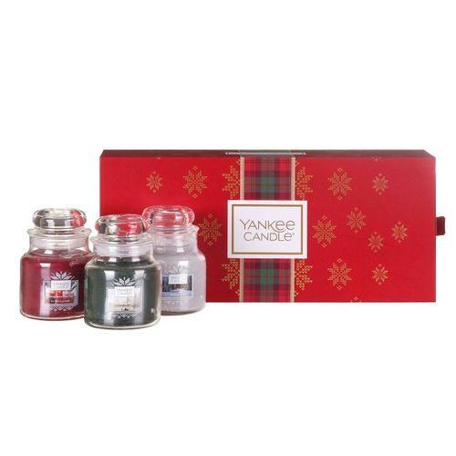 Yankee Candle Dárková sada vonných svíček 3 ks (Alpine Christmas Three) 3 x 104 g