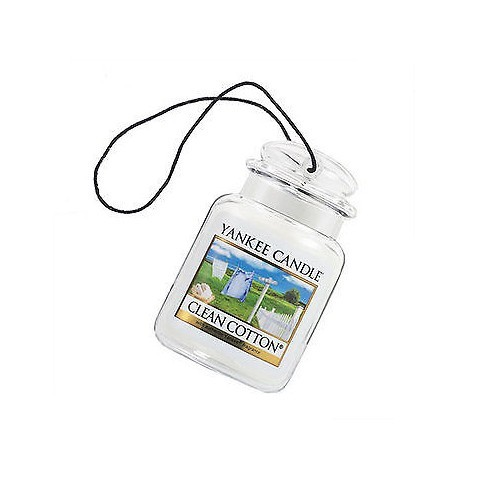 Yankee Candle Luxusné visačka do auta Clean Cotton 1ks