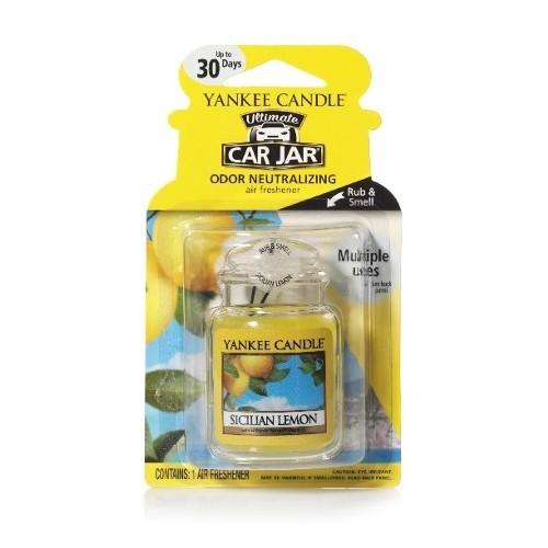 Yankee Candle Luxusní visačka do auta Sicilský citron (Sicilian Lemon) 1 ks