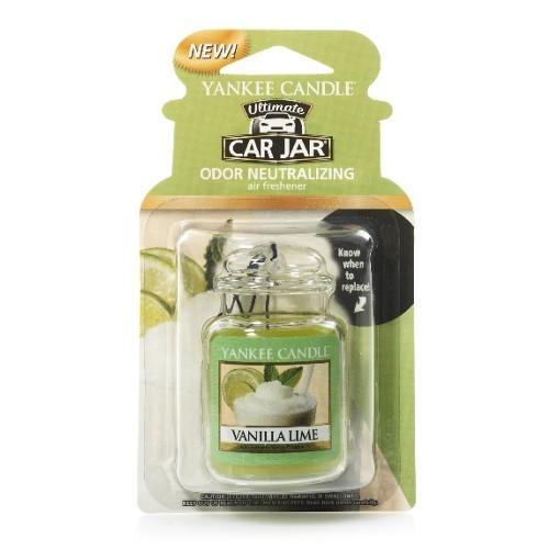 Yankee Candle Luxusní visačka do auta Vanilka s limetkou (Vanilla Lime) 1 ks