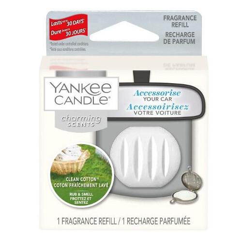 Yankee Candle Vůně do auta Clean Cotton - náhradní náplň 1 ks