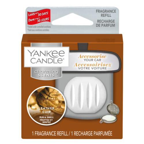 Yankee Candle Vôňa do auta Leather - náhradná náplň 1 ks