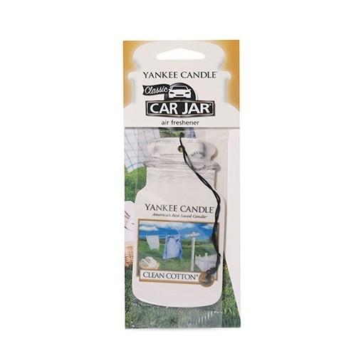 Yankee Candle Papírová visačka do auta Čistá bavlna (Clean Cotton) 1 ks