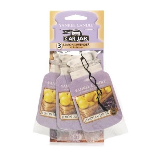 Yankee Candle Papírová visačka do auta Levandule a citron (Lemon Lavender) 3 ks