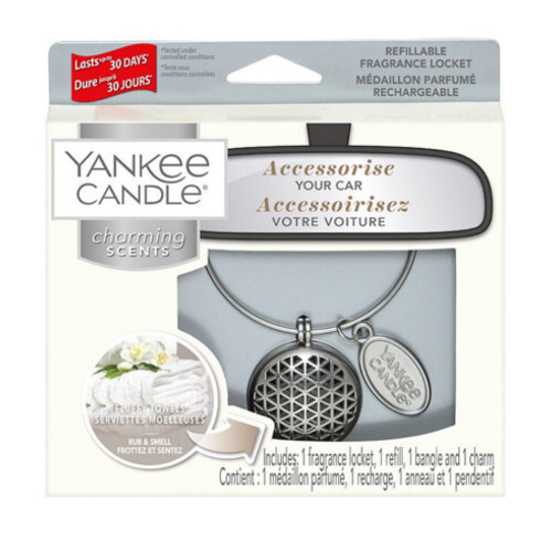 Yankee Candle Vôňa do auta s puzdrom Geometric Fluffy Towels 90 g