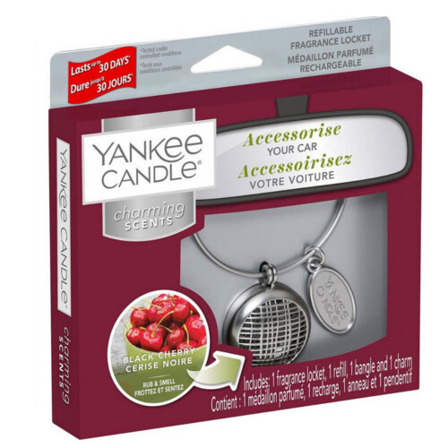 Yankee Candle Vôňa do auta s puzdrom Linear Black Cherry 90 g