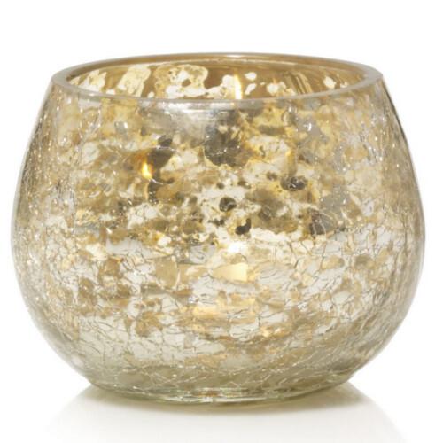 Yankee Candle Svícen na votivní svíčku Kensington Crackle Glass