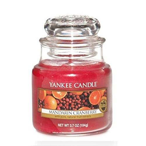 Yankee Candle Vonná svíčka Classic malá Mandarinka a brusinka (Mandarin Cranberry) 104 g