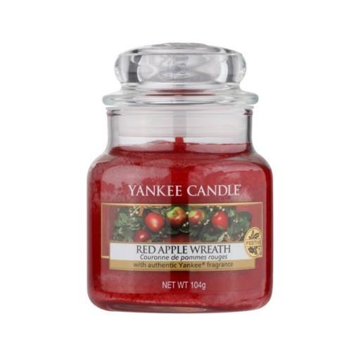 Yankee Candle Vonná svíčka Classic malý Věnec z červených jablíček (Red Apple Wreath) 104 g