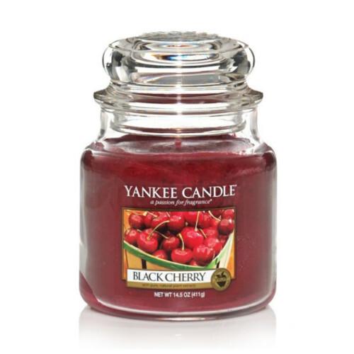 Yankee Candle Vonná svíčka Classic střední Zralé třešně (Black Cherry) 411 g