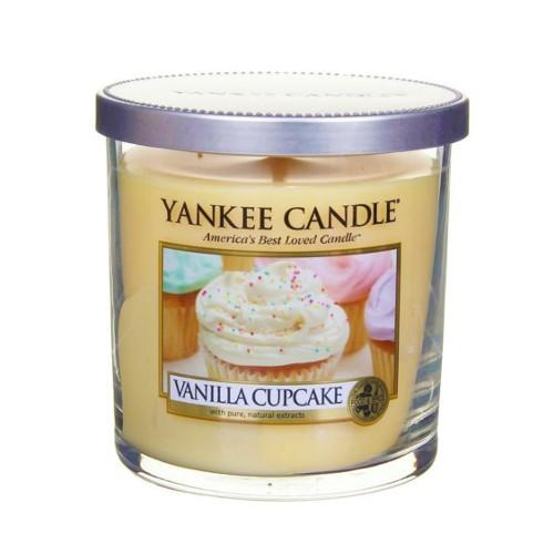 Yankee Candle Vonná svíčka Décor malý Vanilkový košíček (Vanilla Cupcake) 198 g