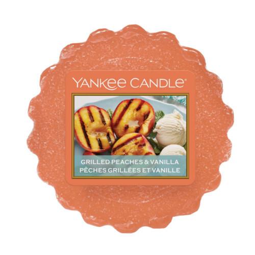 Yankee Candle Vonný vosk do aromalampy Grilované broskve a vanilka (Grilled Peaches & Vanilla) 22 g