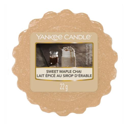 Yankee Candle Vonný vosk do aromalampy Sladký javorový chai (Sweet Maple Chai) 22 g