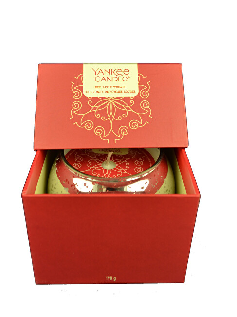 Yankee Candle Darčekový box so sviečkou Red Apple Wreath 198 g