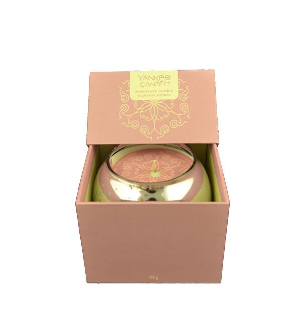 Yankee Candle Dárkový box se svíčkou Snowflake Cookie 198 g