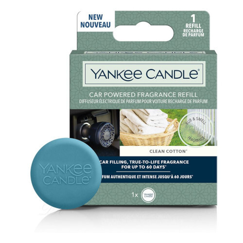 Yankee Candle Náplň do difuzéra do zásuvky auta Car Powered Clean Cotton 1 ks