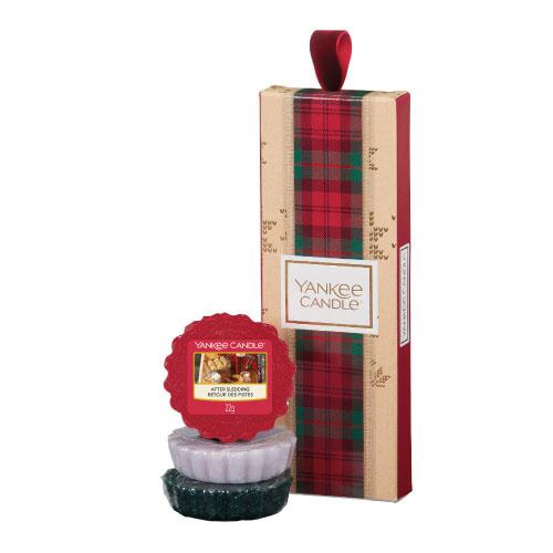 Yankee Candle Dárková sada vonné vosky 3 ks sváteční vůně (Christmas Gift Collection) 3 x 22 g