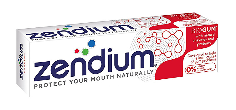 Zendium Zubní pasta Biogum Toothpaste With Natural Enzymes and Proteins 75 ml