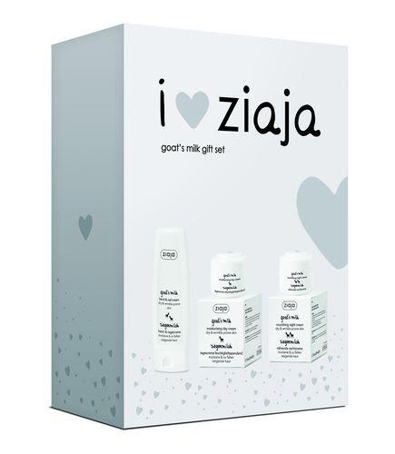 Ziaja Dárková sada I Love Ziaja Kozí mléko (Goat`s Milk Gift Set)