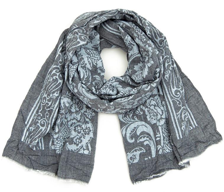 Art of Polo Dámský bavlněný šátek - Květy šedá sz16221.4