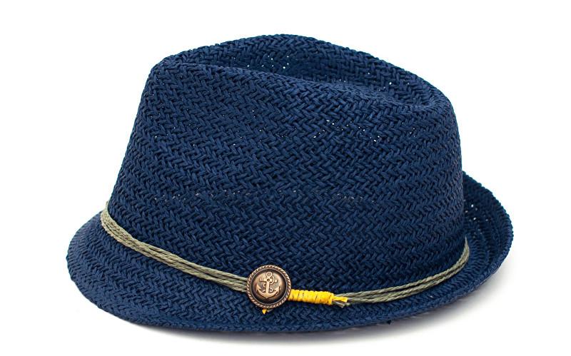 Art of Polo Letní klobouk s kotvou - modrý cz16258.2