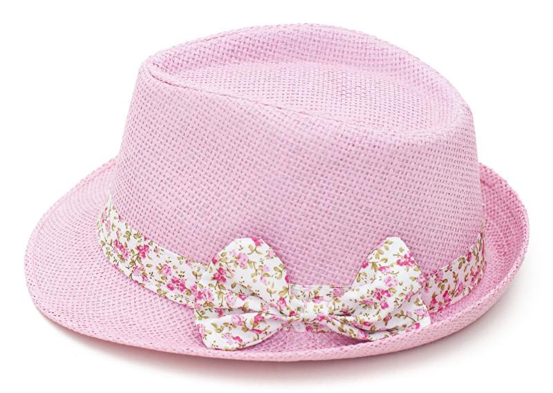 97fedca90 Art of Polo Dámsky letné klobúk s mašľou-ružovobiely cz15161.7 56 cm