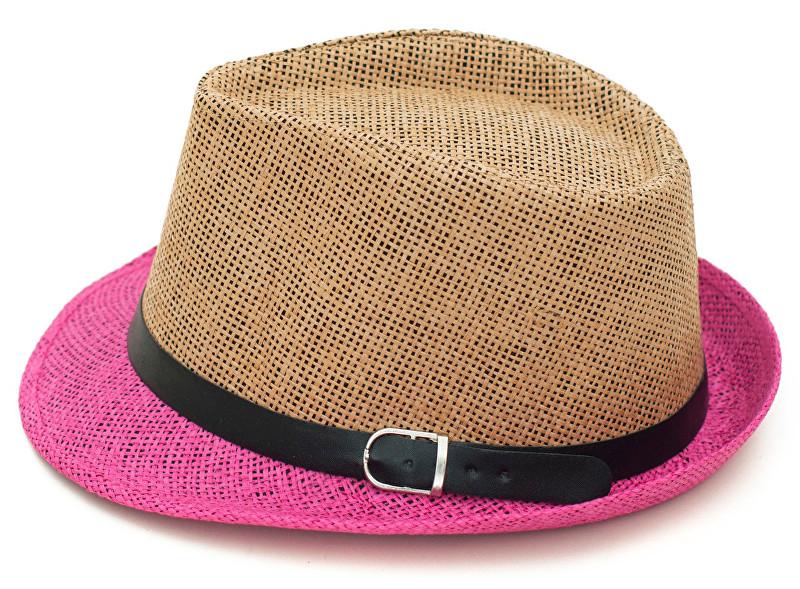 Art of Polo Letní klobouk dvoubarevný - béžovorůžový cz15160.12 58 a8c4564966