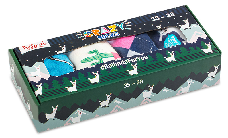 Bellinda Darčeková sada Crazy Sock Box BE481044-005 35-38