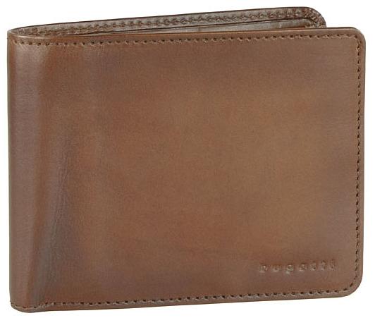Bugatti Pánska kožená peňaženka Domus RFID 49322907 Cognac